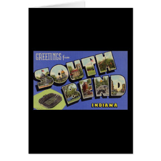 Greetings from South Bend Indiana Greeting Cards