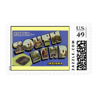 Greetings from South Bend Indiana Postage