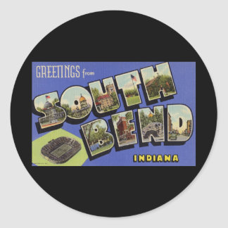 Greetings from South Bend Indiana Sticker