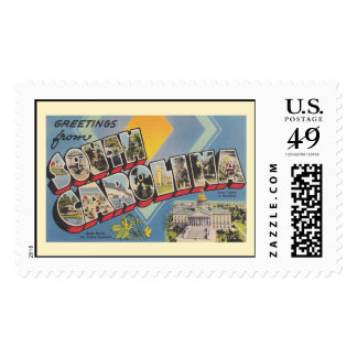 Greetings from South Carolina Postage Stamp