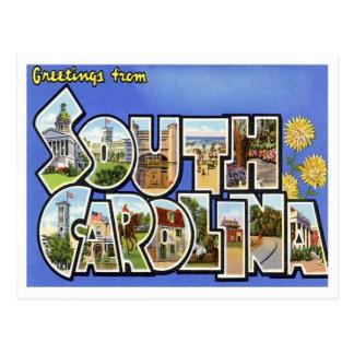 Greetings From South Carolina SC Postcard