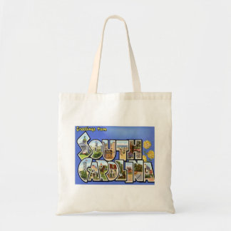 Greetings From South Carolina SC Tote Bag
