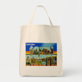 Greetings From South Dakota Canvas Bag
