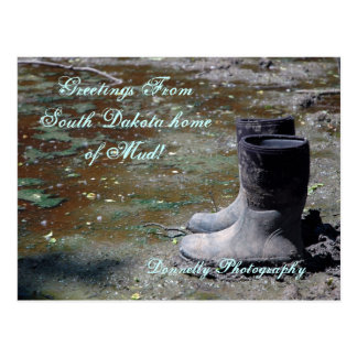 Greetings From South Dakota home of Mud! Postcard