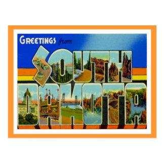 Greetings From South Dakota Postcard