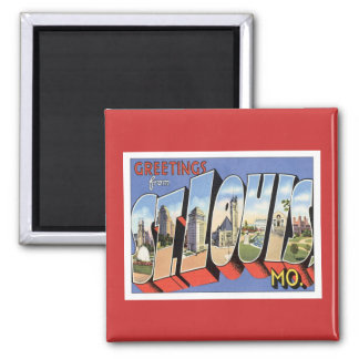Greetings From St.Louis Missouri 2 Inch Square Magnet