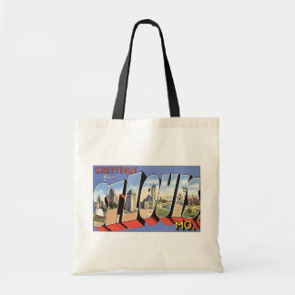 Greetings From St. Louis, Mo., Vintage Budget Tote Bag