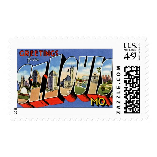 Greetings from St Louis Postage Stamp