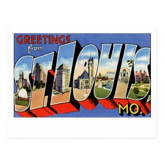 Greetings from St Louis Postcard