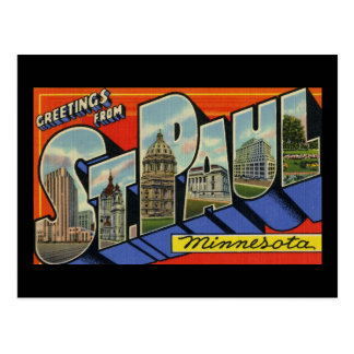 Greetings from St. Paul Minnesota Postcard