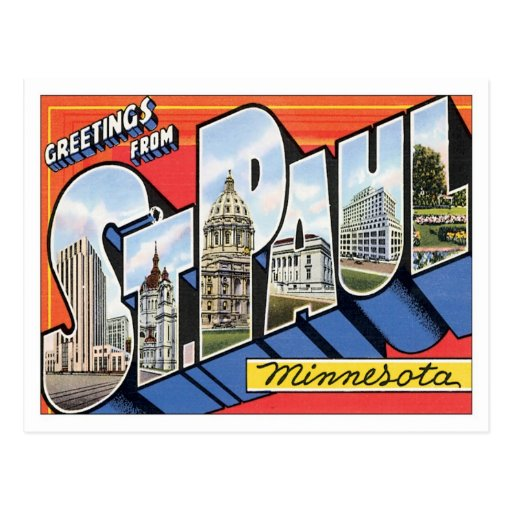 Greetings From St.Paul Minnesota Postcard