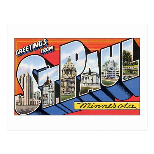 Greetings from St. Paul Minnesota Post Cards