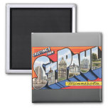 Greetings From St. Paul Minnesota, Vintage 2 Inch Square Magnet