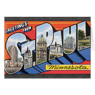 Greetings From St. Paul Minnesota, Vintage Greeting Cards