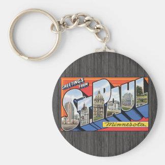 Greetings From St. Paul Minnesota, Vintage Keychains