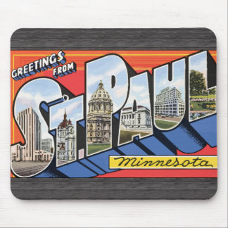 Greetings From St. Paul Minnesota, Vintage Mouse Pads