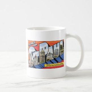 Greetings From St. Paul Minnesota, Vintage Coffee Mug