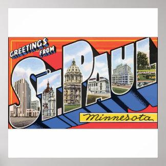 Greetings From St. Paul Minnesota, Vintage Posters