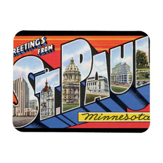 Greetings from St. Paul_Vintage Travel Poster Magnet