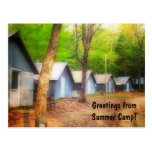 Greetings From Summer Camp Post Cards