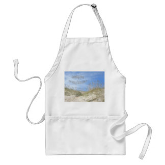 Greetings From Sunny OBX Sea Oats Items Adult Apron