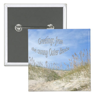 Greetings From Sunny OBX Sea Oats Items Button
