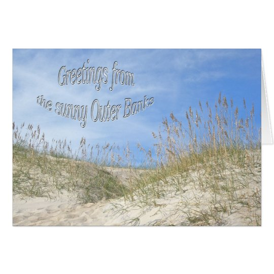 Greetings From Sunny OBX Sea Oats Items Card