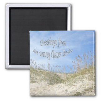 Greetings From Sunny OBX Sea Oats Items Magnet
