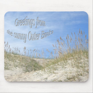 Greetings From Sunny OBX Sea Oats Items Mouse Pad