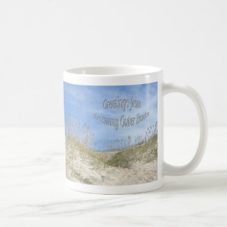 Greetings From Sunny OBX Sea Oats Items Classic White Coffee Mug