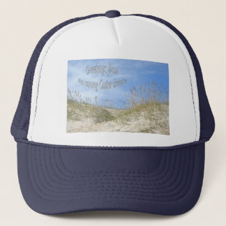 Greetings From Sunny OBX Sea Oats Items Trucker Hat