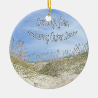 Greetings From Sunny OBX Sea Oats Ornament