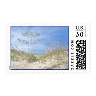 Greetings From Sunny OBX Sea Oats Stamp