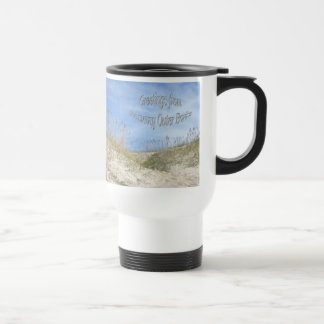 Greetings From Sunny OBX Sea Oats Travel Mug