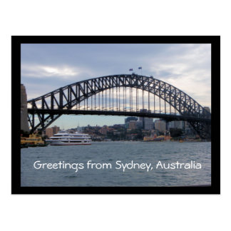 Greetings from Sydney, Australia postcard