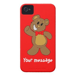 Greetings from Teddy, just add your own message iPhone 4 Cover