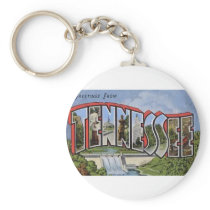 Greetings From Tennessee Keychain