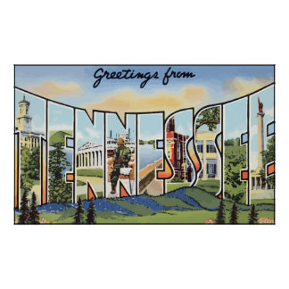 Greetings From Tennessee, Vintage Poster