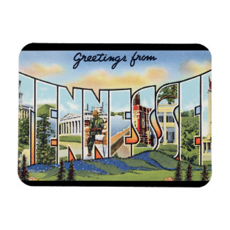 Greetings from Tennessee_Vintage Travel Poster Magnet