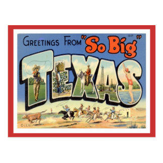 Greetings From Texas Postcard