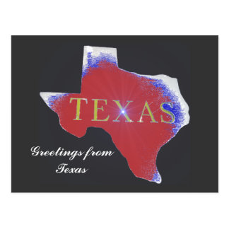 greetings from texas state postcard