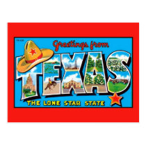 Greetings from Texas, the Lone Star State Postcard