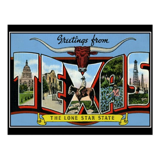 Greetings from texas vintage postcard zazzle greetings from texas vintage postcard m4hsunfo