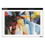 Greetings from the balcony by August Macke Laptop Skin