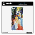 Greetings from the balcony by August Macke Decal For iPhone 4