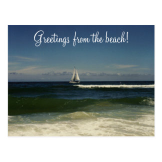 Greetings from the beach! postcard