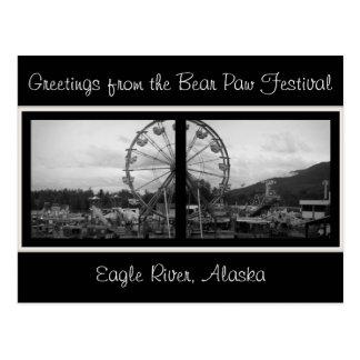 Greetings from the Bear Paw Festival-Alask postcar Postcard