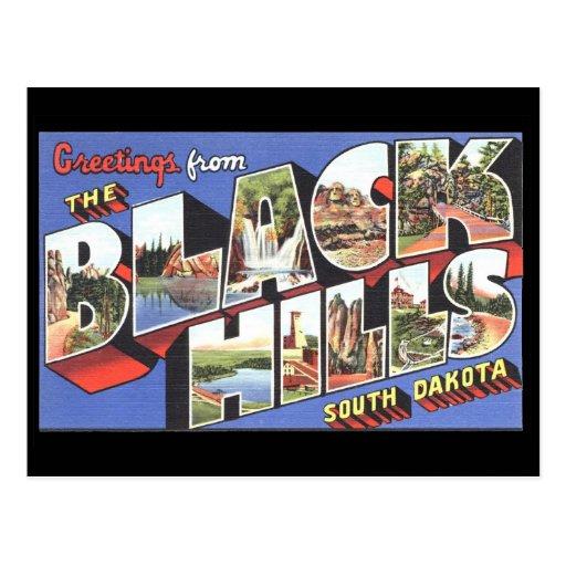 Greetings from the Black Hills South Dakota Post Card