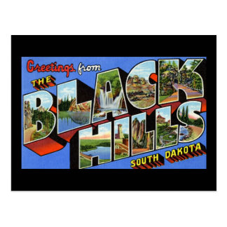 Greetings from the Black Hills South Dakota Postcard