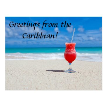 Beach Themed Greetings from the Caribbean postcard
